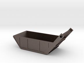 Bedding Box in Polished Bronzed Silver Steel