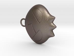 Yoko Skull Clip Dangle Earring Remix (1in) in Polished Bronzed Silver Steel