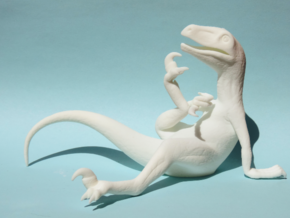Philosoraptor in White Natural Versatile Plastic