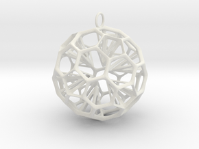 Inverse Star in White Natural Versatile Plastic