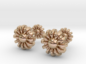 Cufflinks - Flowers in 14k Rose Gold
