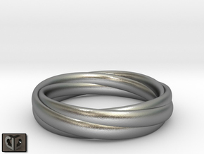 Ring  - Wound in Natural Silver