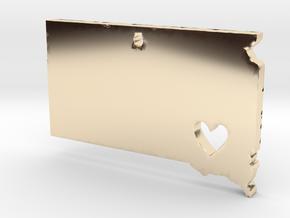 I love South Dakota Pendant in 14K Yellow Gold