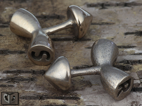 Cufflinks - Initials 1 in Stainless Steel