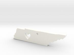 I love Tennessee Pendant in White Processed Versatile Plastic