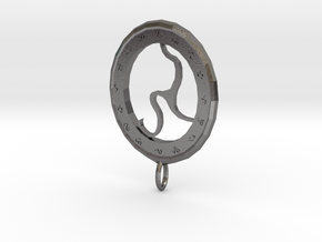 Rune Medallion in Polished Nickel Steel