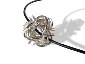CYCLES pendant in Polished Silver