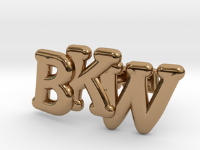 Monogram Cufflinks in Polished Brass