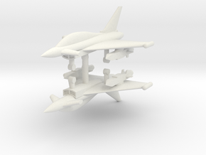 1/285 Eurofighter Typhoon Two Seat (x2) in White Natural Versatile Plastic