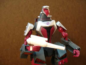Sunlink - Crazy Driver Gun - Botcon Version in White Strong & Flexible