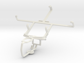 Controller mount for PS3 & Samsung Galaxy Nexus LT in White Natural Versatile Plastic