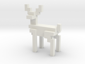 8bit reindeer with sharp corners in White Natural Versatile Plastic