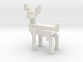 Big 8bit reindeer with sharp corners in White Natural Versatile Plastic