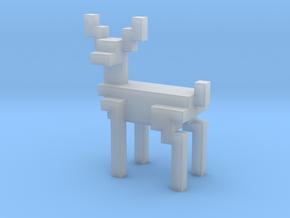 Big 8bit reindeer with sharp corners in Smooth Fine Detail Plastic
