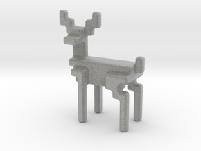 Big 8bit reindeer with rounded corners in Metallic Plastic