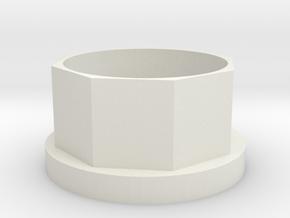 Küchenrollen-Verlängerung (6mm) in White Strong & Flexible