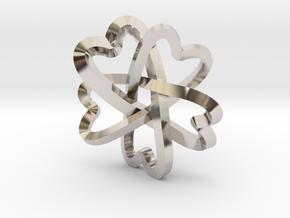 Rosette pendant in Platinum
