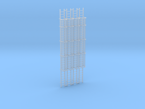 (4) 'N Scale' - 30' Caged Ladders in Smooth Fine Detail Plastic