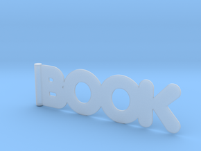 BOOK bookmark in Smooth Fine Detail Plastic