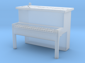 Piano Pendant in Smooth Fine Detail Plastic