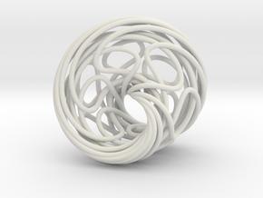 Mobius 6 in White Natural Versatile Plastic