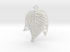 Leaves Trio in White Natural Versatile Plastic