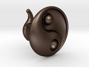 Yin Yang - 6.1 - Cufflink - Right in Matte Bronze Steel