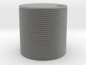 HO scale watertank (solid) in Metallic Plastic