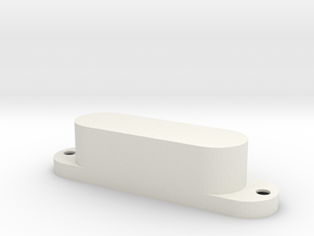 Bass V pickup cover - 3 pole in White Natural Versatile Plastic