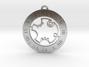 Robert - Pendant in Natural Silver
