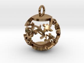 Babaylan Artifact Pendant in Natural Brass