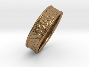Celtic Triangles 16mm in Natural Brass