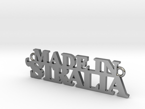 Made in 'STRALIA Pendant in Polished Silver