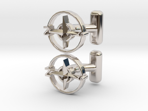 Compass Cufflinks, Part of the NEW Nautical Collec in Platinum
