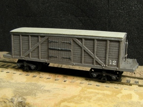 R11x2 N scale 1840 Winans boxcar, Württemberg x2 in Smooth Fine Detail Plastic