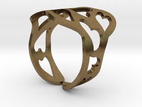 Ring of hearts  in Natural Bronze