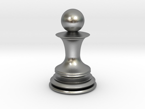 Chess Pawn in Natural Silver