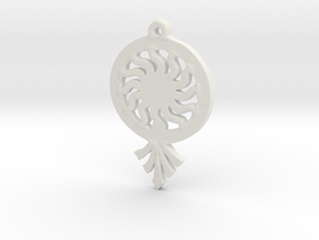 Sunrays Pendant in White Natural Versatile Plastic