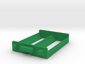 Dual 26650 Battery Sled in Green Processed Versatile Plastic