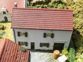 House On Hill FUD Parts - N - 1:160 in Smooth Fine Detail Plastic
