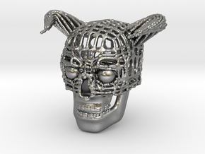 Skull of Devil in Natural Silver