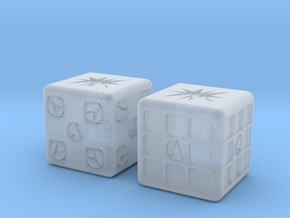 Test Printing Space Dice in Smooth Fine Detail Plastic