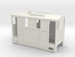 009 cheap and easy wood tram loco  in White Natural Versatile Plastic