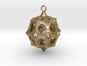 Christmas Bauble No.5 in Polished Gold Steel
