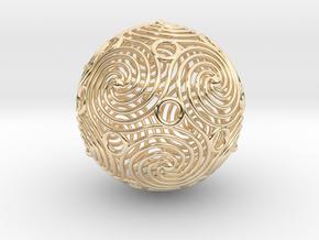 spiraling icosahedron | 2.4mm in 14K Yellow Gold