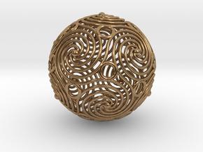 spiraling icosahedron | 2.4mm in Natural Brass