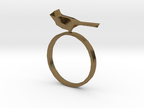 Poly Bird Ring 6 in Natural Bronze