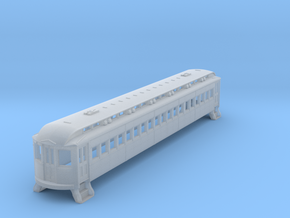 N Scale L&WV Long Steel Coach body shell in Smooth Fine Detail Plastic