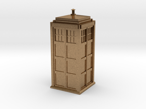Doctor Who Tardis in Natural Brass