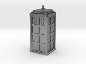 Doctor Who Tardis in Natural Silver